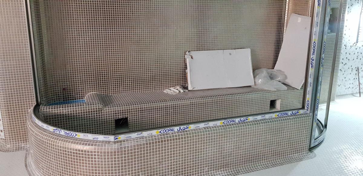 استخر، جکوزی، سونا و آب و فاضلاب و گرمایش طبقات خیابان تالار اصفهان شرکت ونداد تهویه سپهر