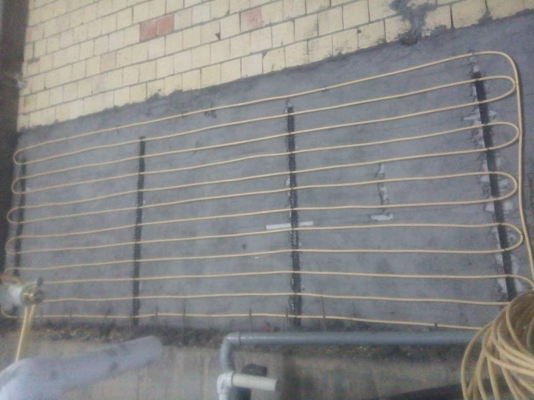راه اندازی سیستم گرمایش بدنه و کف باغ بهادران شرکت ونداد تهویه سپهر