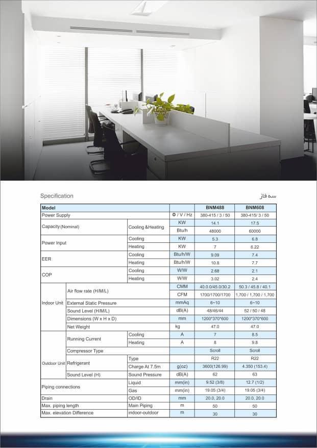 دستگاه های سه فاز از ظرفیت ۴۸۰۰۰ تا ۶۰۰۰۰ BTU
